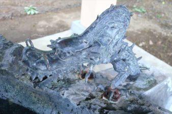 厚別神社 手水舎の龍神様