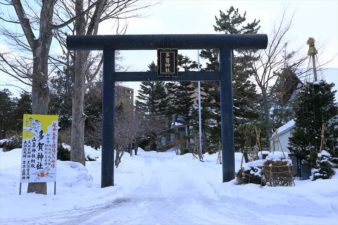 多賀神社 鳥居 冬