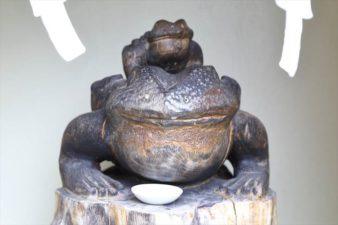 星置神社 撫蛙