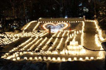 定山渓神社 雪灯路