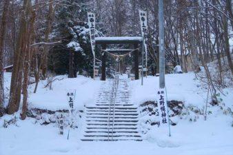 上野幌神社 入口 冬