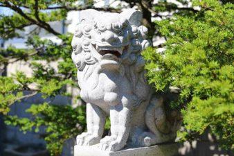 上白石神社 狛犬様