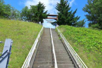 上手稲神社 参道の階段