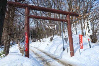 上手稲神社 裏参道入口 冬