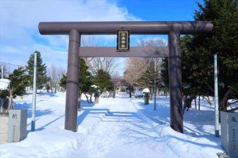 江南神社 入口と鳥居 冬