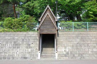 小野幌神社 小野幌会館側入口