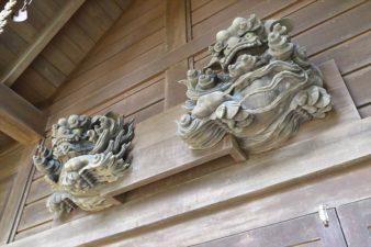 小野幌神社 阿吽の獅子像