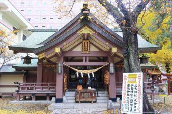 札幌三吉神社 本殿 冬