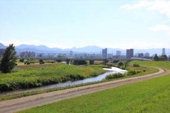 瑞穂神社の裏側の豊平川