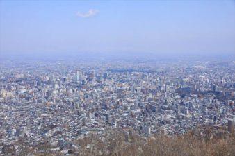 藻岩山から見た札幌市街地