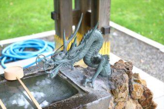 西野神社 手水舎の龍神様