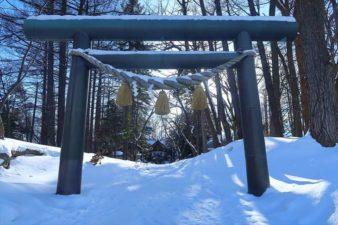 大谷地神社 鳥居 冬