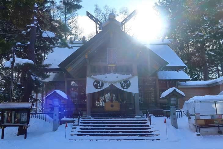 大谷地神社 本殿 冬