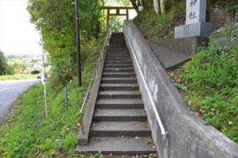 札幌藤野神社 入口の階段