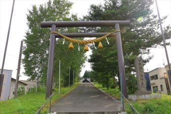 下野幌八幡神社 入口と鳥居