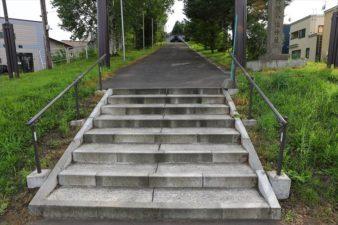 下野幌八幡神社 入口の階段