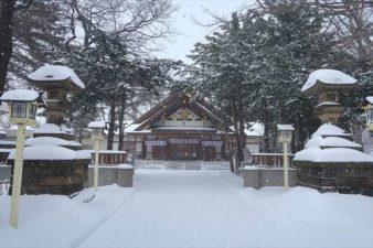 新琴似神社 参道 冬の景色