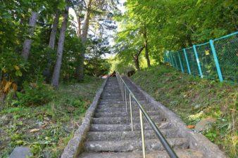 白川神社 境内への階段