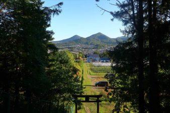 白川神社 境内からの景色