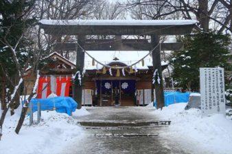 相馬神社 第2鳥居と本殿 冬