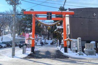 手稲神社 鳥居 冬