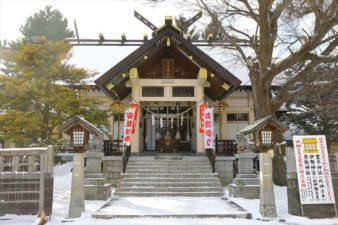 豊平神社 本殿 冬