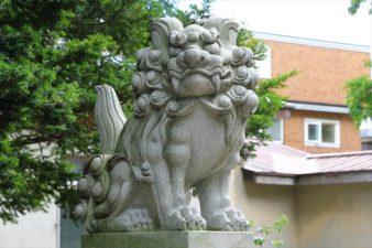 月寒神社 狛犬様