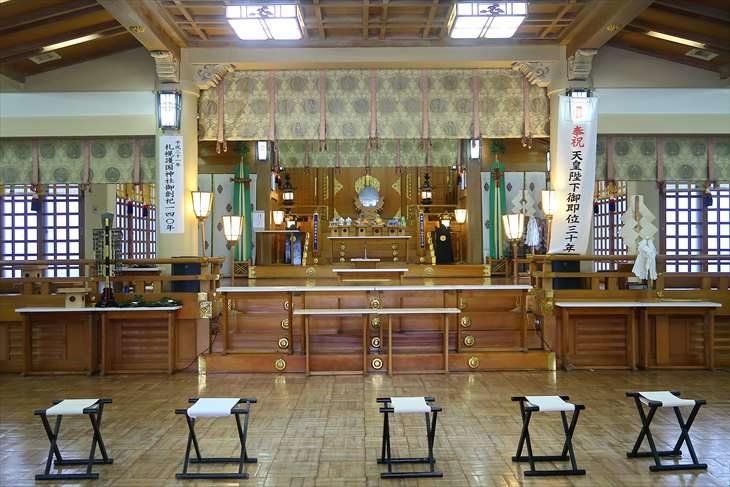 札幌護国神社 拝殿の中