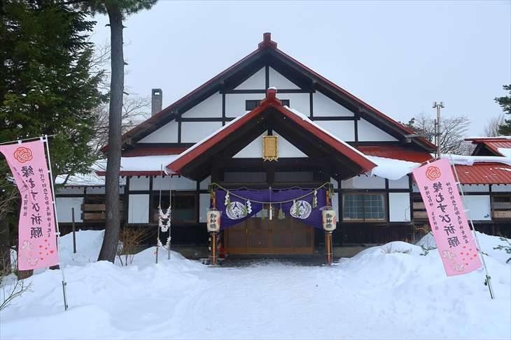 多賀神社 社殿 冬