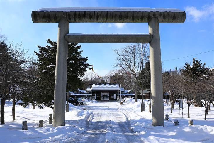 札幌護国神社 第二鳥居 冬