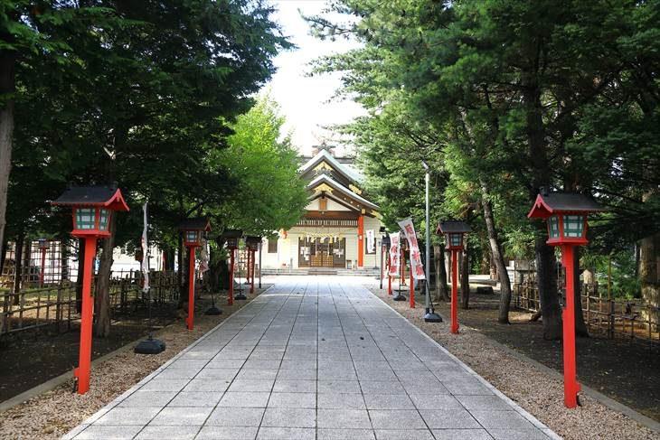 発寒神社 参道