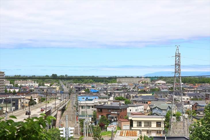 星置神社 鳥居前からの景色