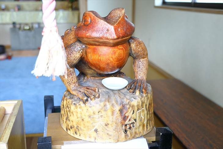 星置神社 撫で蛙