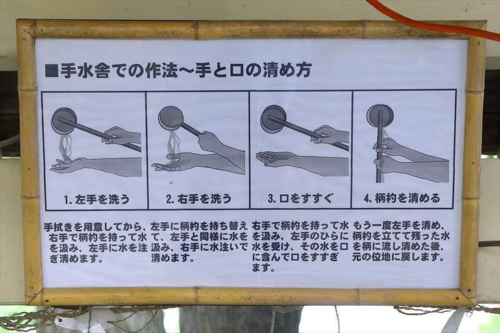 星置神社 手水の作法