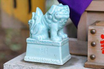 清田稲荷神社 地神さまの狛犬