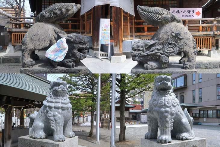 北海道神宮頓宮の狛犬様