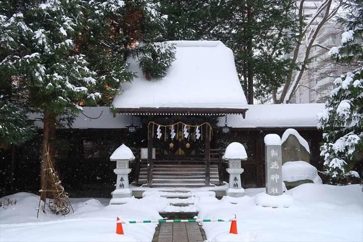 琴似神社 報徳神社 冬