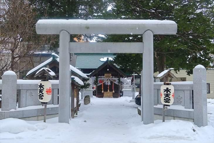 札幌水天宮 冬