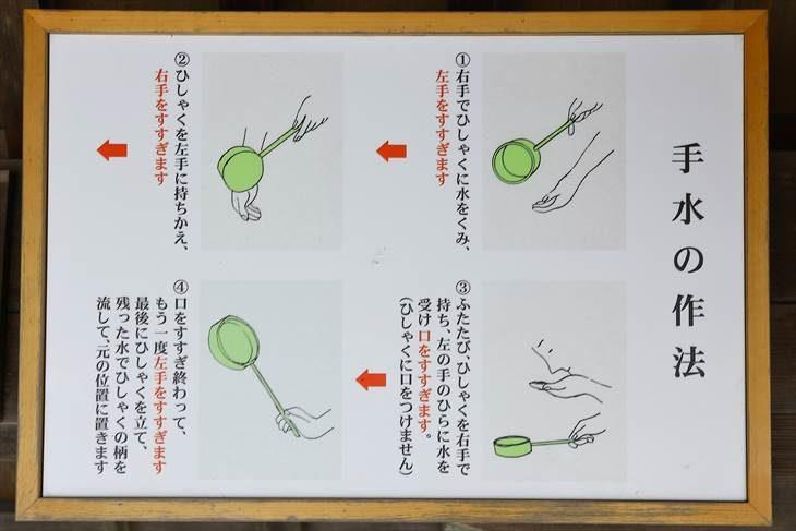 西野神社 手水の作法