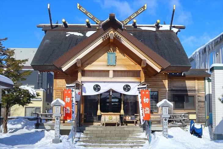 札幌村神社 社殿(冬)