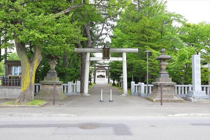 篠路神社 入口