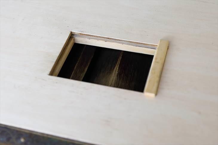 篠路神社 賽銭箱の蓋