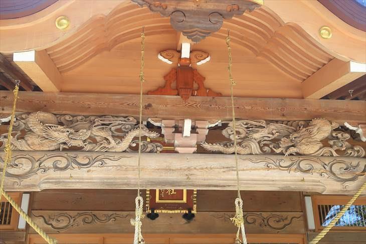 相馬神社 社殿の木彫り