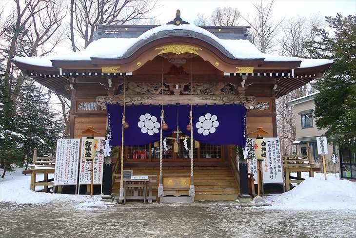 相馬神社 拝殿 冬