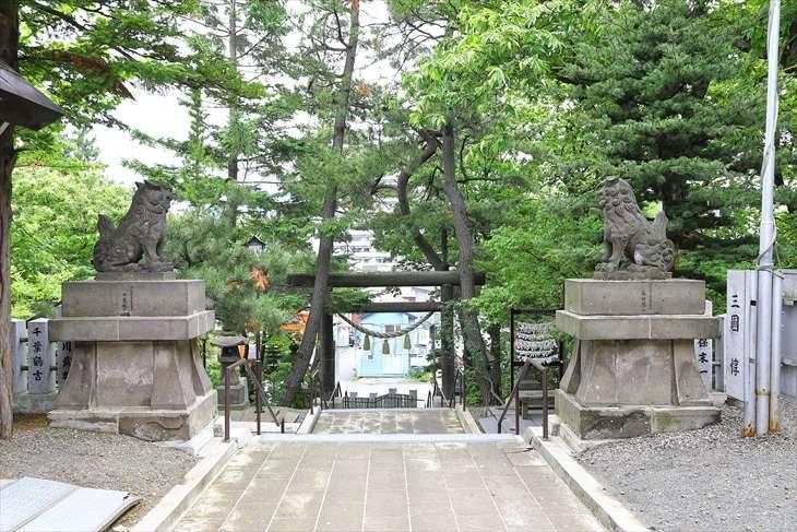 手稲神社 参道を振り返った景色