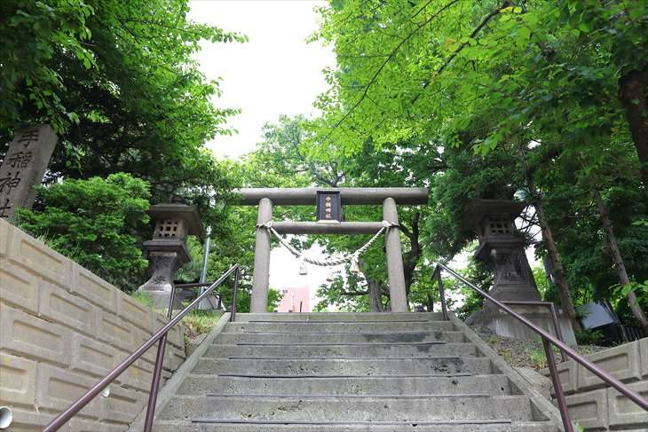 手稲神社 裏参道
