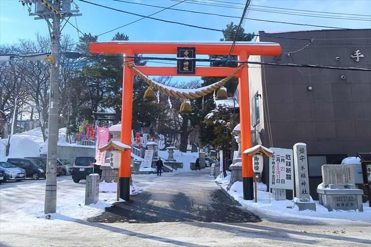 手稲神社 鳥居(冬)