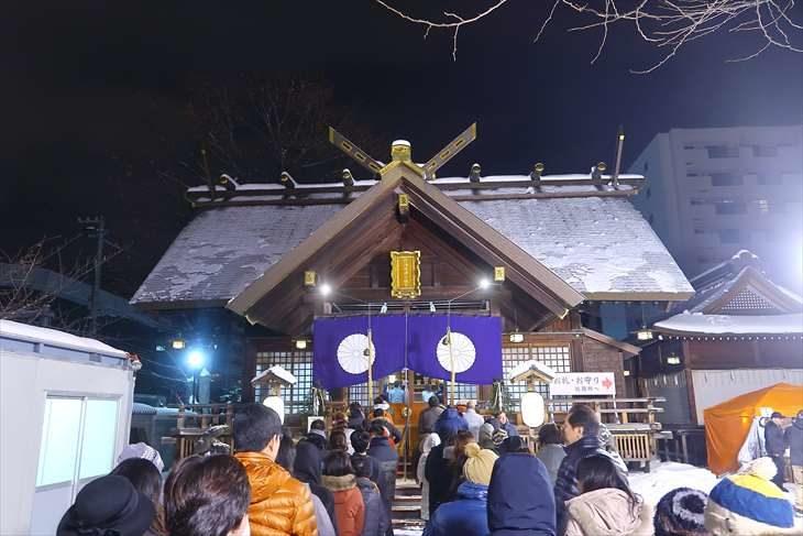 北海道神宮頓宮の初詣