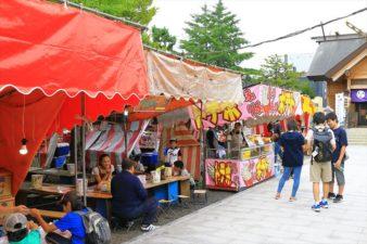 札幌村神社のお祭りの様子