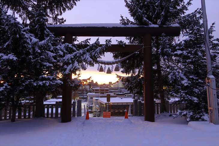上手稲神社の鳥居